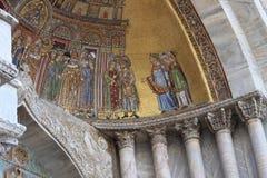 Mosaik på Sts Mark basilika, Venedig Italien Arkivbild