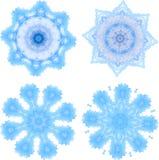 Mosaik-Schablonensammlung der Schneeflocken polygonale im niedrigen Poly-styl vektor abbildung