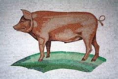 Mosaik-Schwein Stockfoto