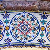 Mosaik um das Tor zum königlichen Palast in Fez Marokko stockbilder