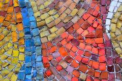Mosaik von kleinen Steinen Lizenzfreies Stockbild