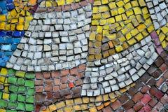 Mosaik von kleinen Steinen Stockfotografie