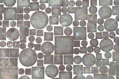 Mosaik von Kreisen und von Quadraten Stockfoto