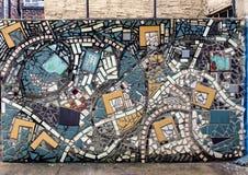 Mosaik-Wandgemälde durch Isaiah Zagar, Philadelphia Lizenzfreie Stockfotografie
