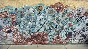 Mosaik-Wandgemälde durch Isaiah Zagar, Philadelphia Lizenzfreie Stockfotos