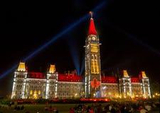 Mosaika Light Show Ottawa Stock Photography