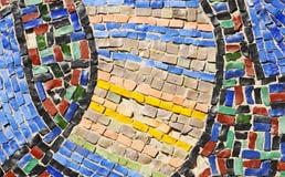 Mosaikbeschaffenheit auf Wand Stockbilder