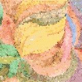 Mosaikblumenhintergrund Stockfotos