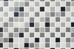 Mosaiken belägger med tegel bakgrund Royaltyfri Fotografi