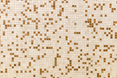 Mosaiken belägger med tegel väggen Royaltyfri Foto