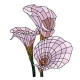 Mosaiken blommar sömlöst royaltyfri illustrationer
