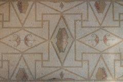 Mosaiken i fördärvar av den romerska villan i den forntida staden av Lilibeo arkivfoto