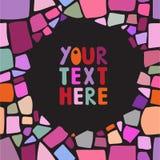 Mosaiken inramar Royaltyfria Foton