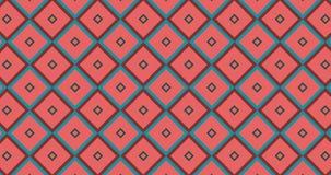 Mosaiken skära i tärningar den geometriska modellen med hallucinogen färgrik hedonistic jordsignalskugga Isometrisk minsta ask stock video