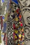 Mosaiken, Skulpturen und farbige Spiegel Stockfotografie