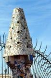 Mosaiken von Antonio Gaudi Palau Guell Lizenzfreie Stockfotografie