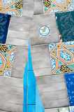 Mosaiker Antonio Gaudi royaltyfria bilder