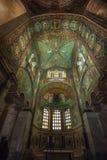 Mosaiker av basilikan av San Vitale, Ravenna, Italien Royaltyfria Foton