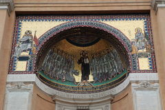Mosaiker av yttre helig trappa som bygger närbild italy rome Royaltyfria Bilder