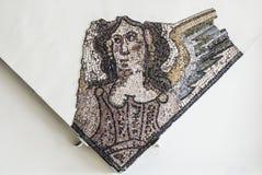 Mosaiker från Helicarnassus exibited i brittiska Miseum Royaltyfri Foto