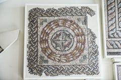 Mosaiker från Helicarnassus exibited i brittiska Miseum Royaltyfri Fotografi