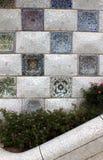Mosaiker parkerar in Guell Royaltyfri Fotografi
