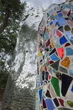 Mosaiker, skulpturer och skyskrapa Fotografering för Bildbyråer