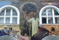 Mosaikfasad, Karntnerstrasse 16 i Wien Royaltyfri Bild