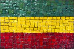 Mosaikflagge von Bolivien Stockfoto