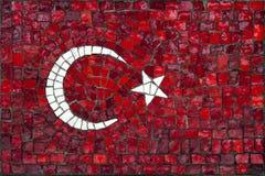 Mosaikflagge von der Türkei Stockbild