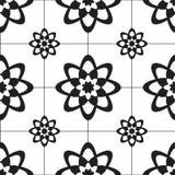 Mosaikfliese im Blumenmuster stock abbildung
