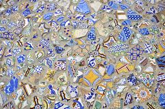 Mosaikfliesefußbodenauslegung Stockfotos