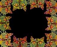 Mosaikkatzen-Fotorahmen Lizenzfreie Stockfotografie