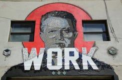 Mosaikkunst durch puertorikanischen Künstler Celso Gonzalez in Ost-Williamsburg in Brooklyn Stockfoto