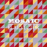 Mosaiklägenhetdesign Arkivbild