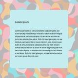 Mosaikmodell för pastellfärgad färg, färgrik texturbakgrund med ramutrymme Royaltyfri Fotografi