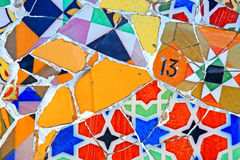 mosaikmodell som är på måfå Arkivfoton