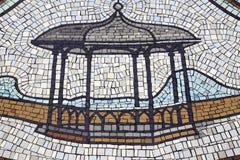 Mosaikmuster Bühne Stockfoto
