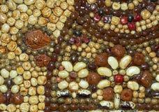 Mosaikmuster von Samen und von Körnern Stockbild