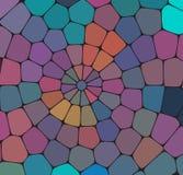 Mosaikmusterhintergrund Helle bunte Fliesen mit weißer Abstandsbeschaffenheit lizenzfreie abbildung