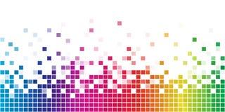 mosaikregnbågefyrkant Arkivfoton