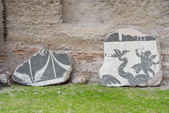 Mosaiksteine in Rom. Stockfotografie