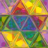 Mosaiktapete des kitschigen Dreiecks des Regenbogens transparente Lizenzfreies Stockfoto