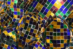 Mosaiktempel blau Stockfotos