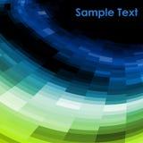 mosaikvektor för blå green Arkivfoto