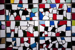 Mosaikwand mit Farbbeschaffenheit de Stajl Lizenzfreie Stockfotografie