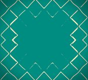 Mosaikwellen des grünen Meeres Stockfotos
