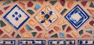 Mosaisk bakgrund färgrik mosaik Texturmosaik Fragmenterar nolla Arkivbilder