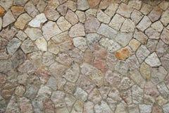 Mosaisk bakgrund för stenvägg Royaltyfri Bild