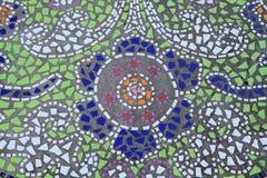 Mosaisk belagd med tegel golvbakgrund Royaltyfri Fotografi